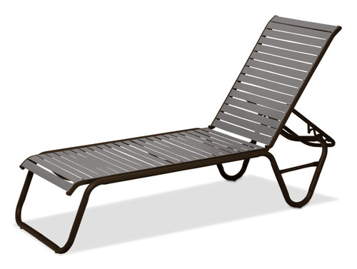 Reliance Contract Strap, Four-Position Lay-flat Stacking Armless Chaise