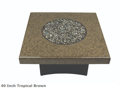 "Oriflamme 40"" Square Tropical Brown Fire Table"