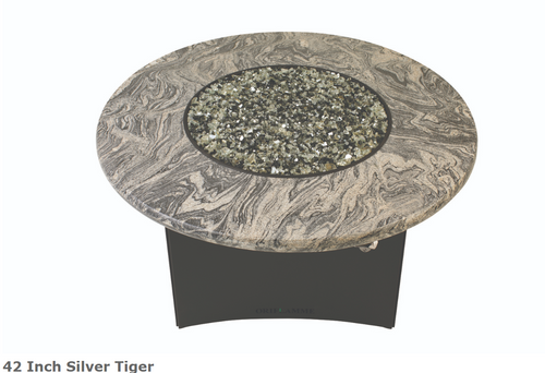 "Oriflamme 42"" Silver Tiger Fire Table"