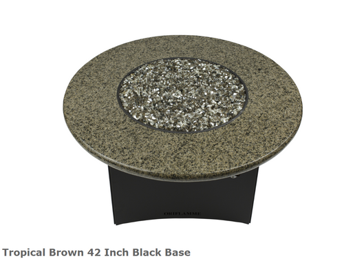 "Oriflamme 42"" round Tropical Brown Fire Table"