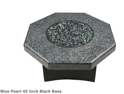 """Oriflamme Blue Pearl 45"""" Fire Table"""