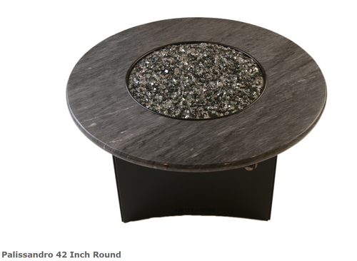 "Oriflamme Palissandro 42"" Round Fire Table"