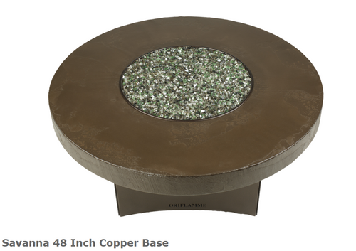 "Oriflamme Savanna 48"" Copper Base Fire Table"