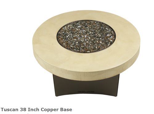"Oriflamme Tuscan 38"" Copper Base Fire Table"