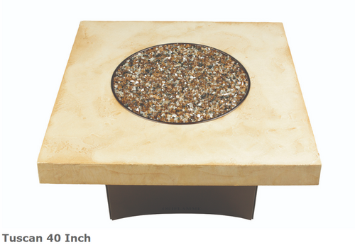 "Oriflamme Tuscan Square 40"" Fire Table"