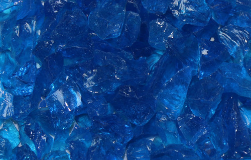 Oriflamme Blue Non-Reflective Fire Table Fire Glass (Per Pound)