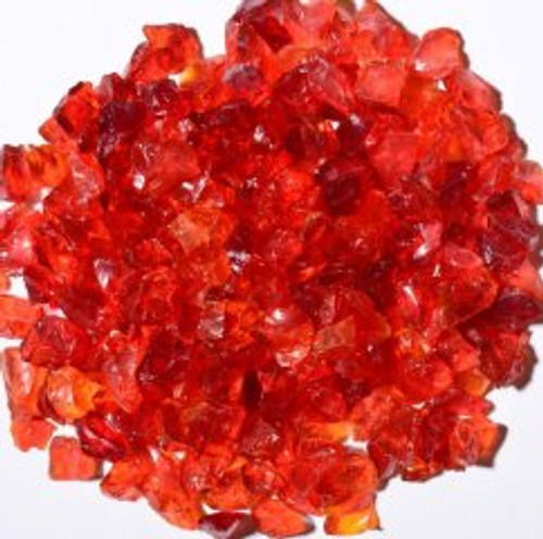 Oriflamme Red Orange Fire Table Fire Glass (Per Pound)