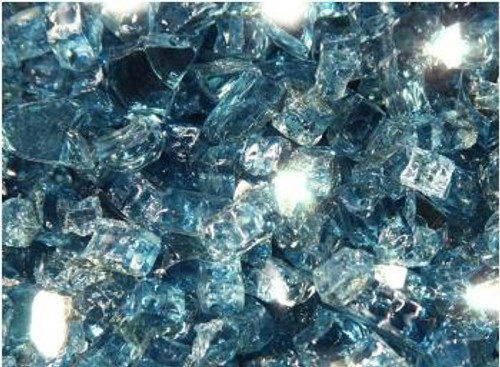 Oriflamme Reflective Pacific Blue Fire Table Fire Glass (Per Pound)