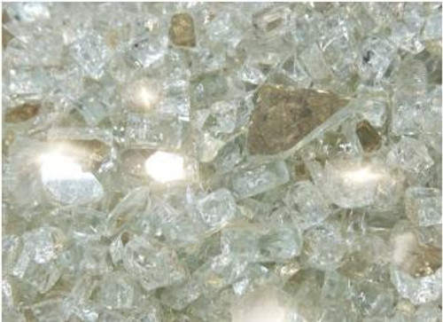 Oriflamme Reflective Platinum Fire Table Fire Glass (Per Pound)