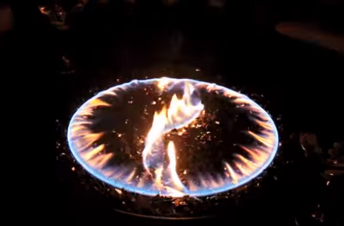 """Oriflamme Fire Table Burners """"Yin Yang"""" (glass included)"""