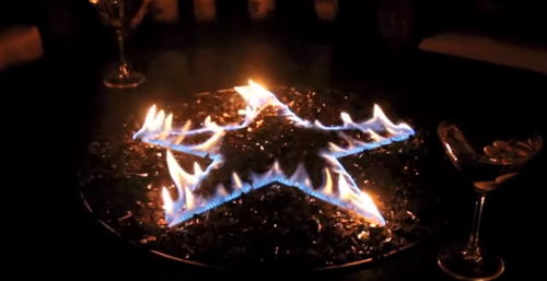 """Oriflamme Fire Table Burners """"Star""""(includes glass)"""