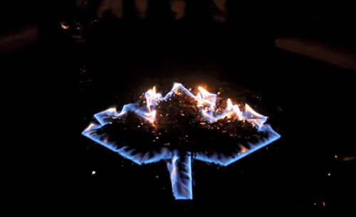 """Oriflamme Fire Table Burners """"Maple Leaf"""" (includes glass)"""
