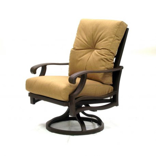Mallin Casual, Anthem Cushion Swivel Rocking Dining Arm Chair