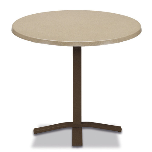 """Werzalit Top Table 30"""" Round Balcony Height Pedestal Table w/o hole"""