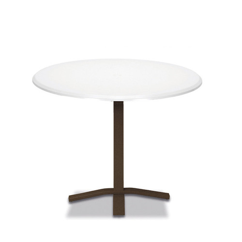 """Telescope Casual Werzalit 42"""" Round Balcony Height Table with Pedestal Base"""