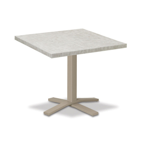 """Telescope Casual Elements 42"""" Square Dining Table with Pedestal Base"""