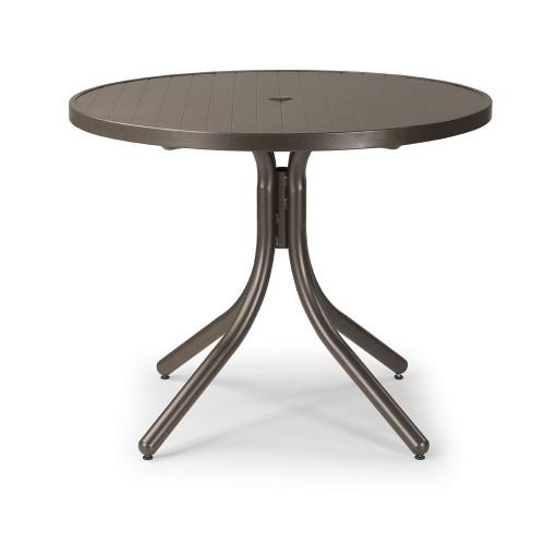 "Telescope Casual 36"" Aluminum Slat Round Dining Table"