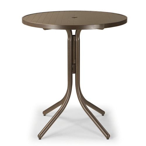 "Telescope Casual 36"" Aluminum Slat Round Bar Table"