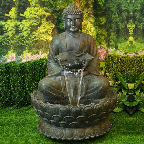 "54"" Buddha Zen Fountain w/ LED Light"