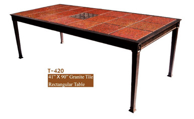 Dwl Garden Valencia 41 X 90 Granite Tile Rectangular Dining Table