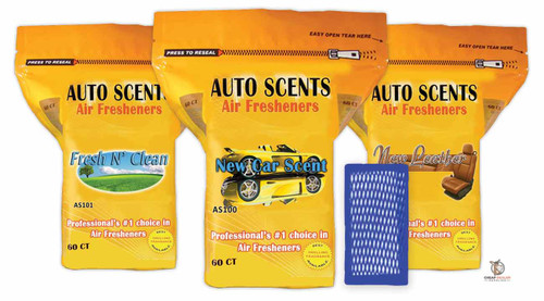 Auto Scents Car Air Freshener Pads (60-pack)