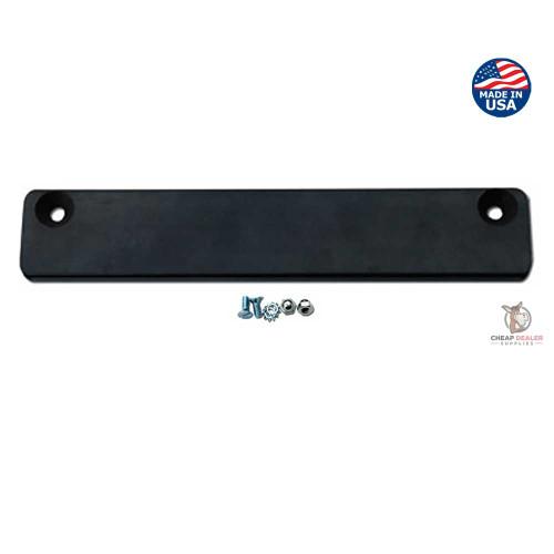 Premium Rubber Coated License Plate Magnet (Car Dealer Demo Plate Bar Magnet and Hardware Screws)