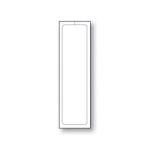 """Plain White Addendum Stickers - Adhesive - 3-1/8"""" x 11"""" (250 per pack) (8300-3)"""
