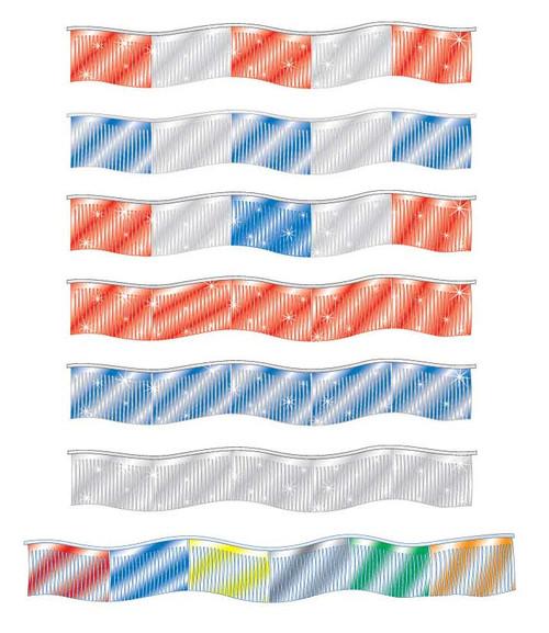 Metallic Streamers (60' long) (7 styles) (1 per pack)