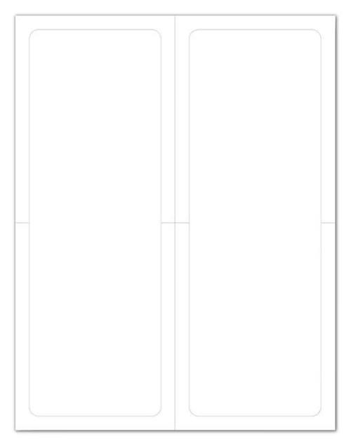 "Plain Blank White Addendum Window Stickers - Adhesive - Half Sheet - 8.5"" x 11"" (Two 4.25"" x 11"" Stickers Per Sheet) (50 Sheets per Box)"