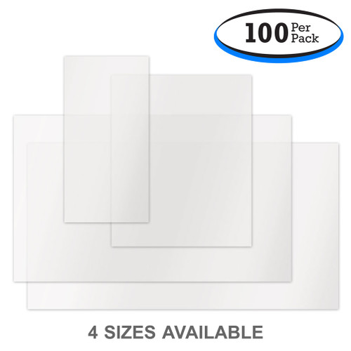 Low Tack Adhesive Form Holders - Clear Plastic Window Stickers (100 Per Pack)