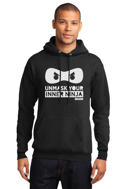 Unmask Your Inner Ninja Hoodie (front)