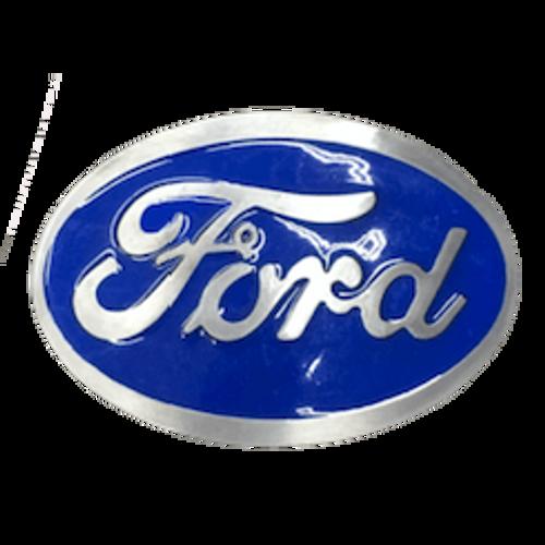 Blue Ford Belt Buckle