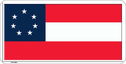 First Confederate Flag License Plate