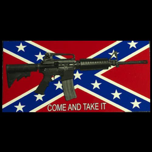 """Confederate Flag """"Come and Take It"""" V.2 Sticker"""