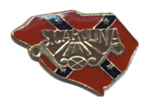 South Carolina Confederate State flag Lapel Pin