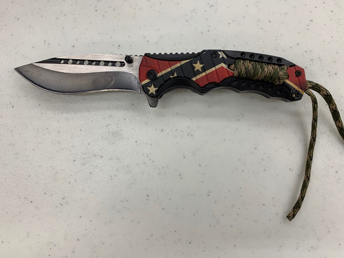 Confederate knife with rope