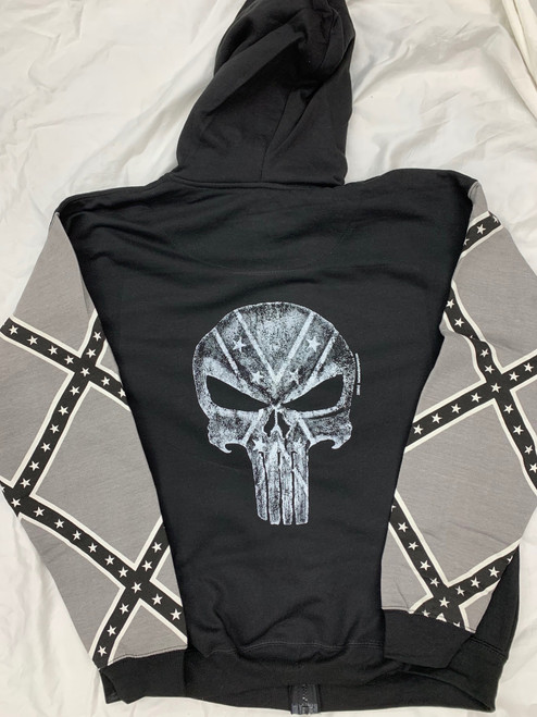 PUNISHER CONFEDERATE FULL ZIPPER