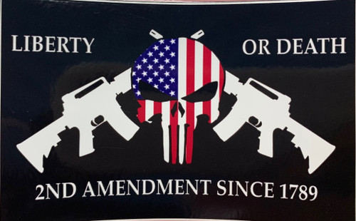 Liberty or death (Punisher) Sticker *Made In America*