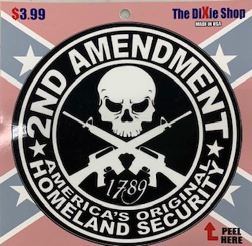 """2nd Amendment Sticker """"Made In America"""""""
