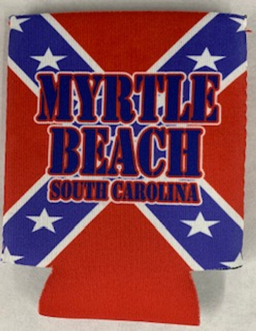 Myrtle Beach Confederate Flag Koozie