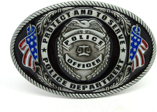 Police Officer Protect And To Serve Police Department Belt Buckle