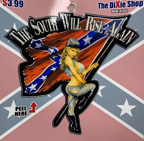 Confederate The South Will Rise Again Sticker