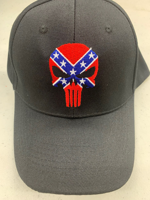 Punisher Confederate Skull Hat