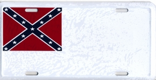 2nd Confederate Flag License Plate