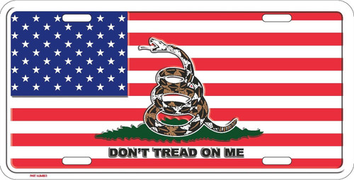Don't Tread On Me  American Flag License Plate