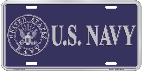 U.S Navy with Seal License Plate
