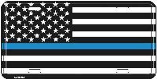 USA Blue Line License Plate