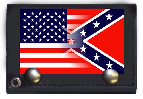 USA & Confederate Blanded Wallet