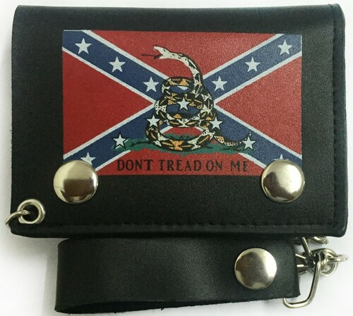 Don't Tread On Me With Confederate Flag Wallet