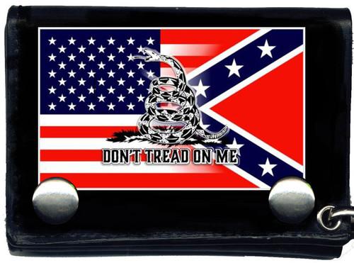 USA & Confederate Blended Gadsden Wallet